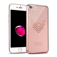 Original Kingxbar Quality Electroplated PC With Crystals Rhinestone Case Cover For Apple IPhone 7 7 Plus