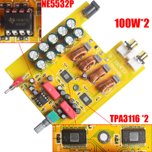 Image 5 - Breeze amplificador de áudio, classe d, hifi, amplificador de potência digital, pro tpa3116, avançado 2*100w, mini casa, alumínio enclosure amp