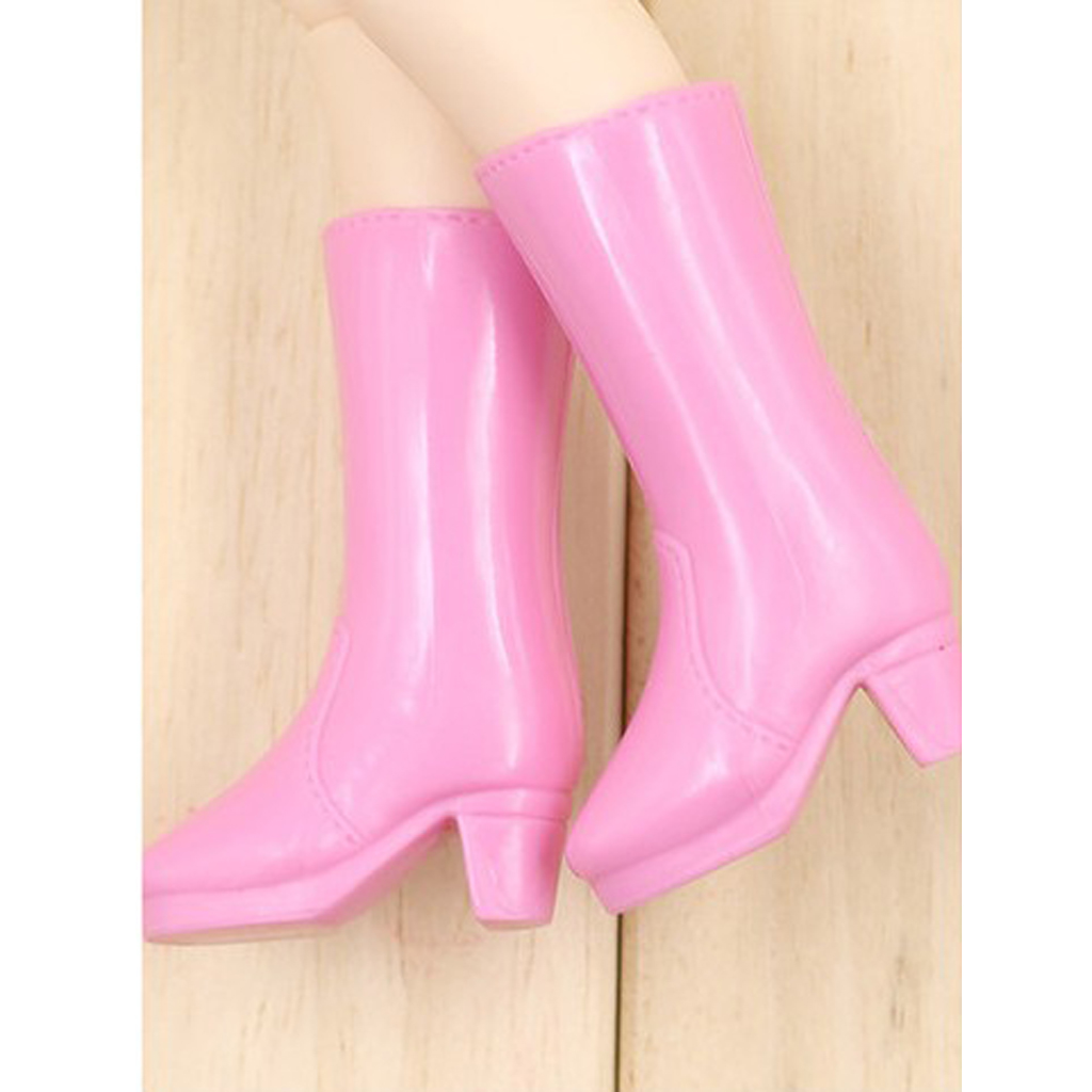 12inch Doll Plastic High Heels Shoes for Blythe Licca Doll Clothing Pink