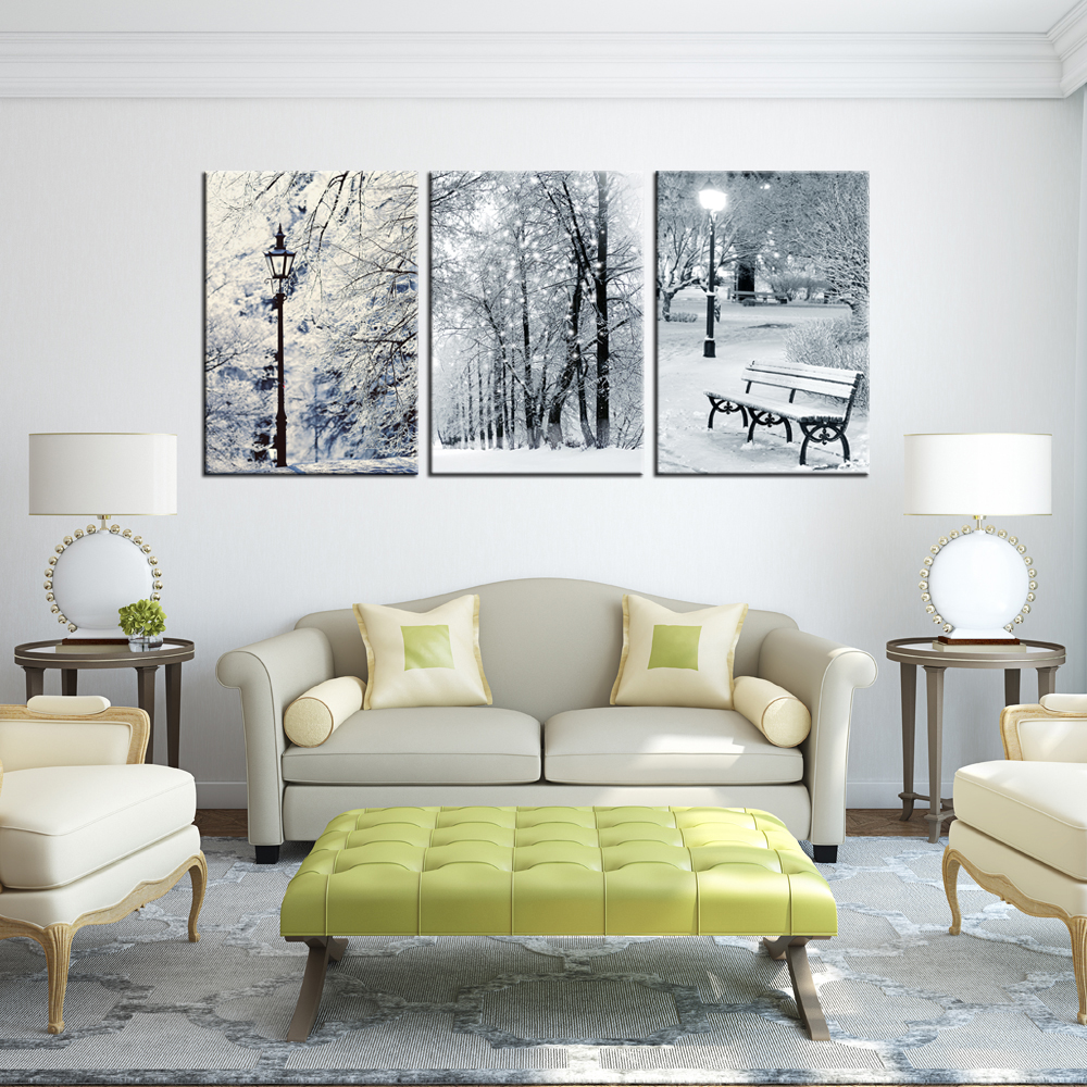 Winter Snow Canvas Giclee Landscape Painting Prints Home Decor For ...