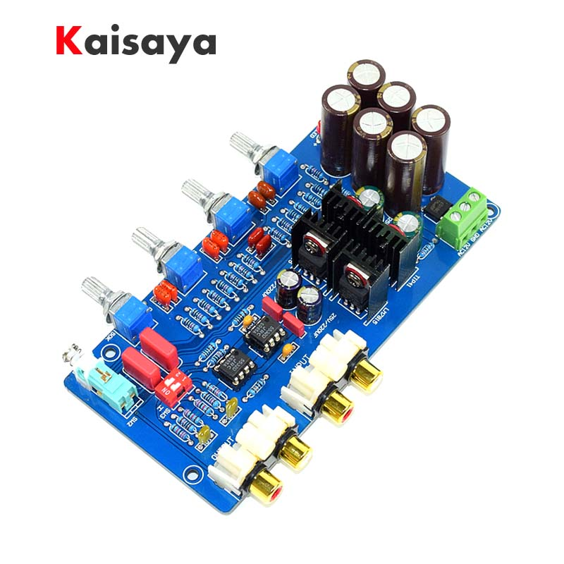 JRC5532 Dual AC 12V-18V Music Volume Tone Control HIFI op amp preamplifier audio Amplifier board new arrival ne5532 op amp hifi amplifier preamplifier volume tone eq control board diy kits free shipping