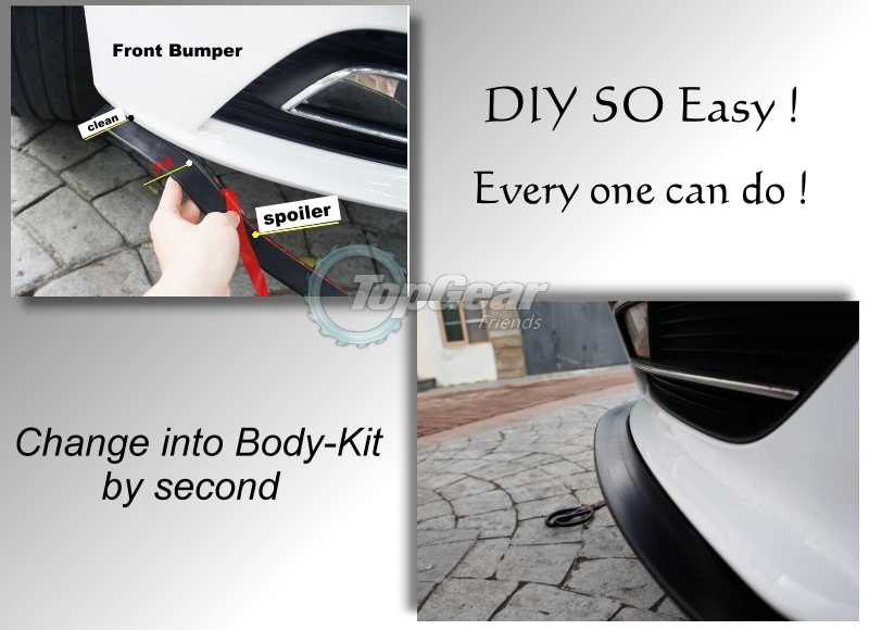 For TOYOTA Avanza For Daihatsu Xenia Bumper Lip / Front Spoiler For TG  Friends to Car Tuning / TOPGEAR Body Kit / Strip Skirt
