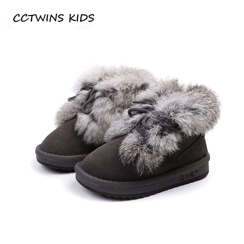 CCTWINS KIDS 2018 Winter Girl Fashion Snow Boot Children Genuine Leather Warm Shoe Baby Boy Brand Ankle Boot Toddler CS1520
