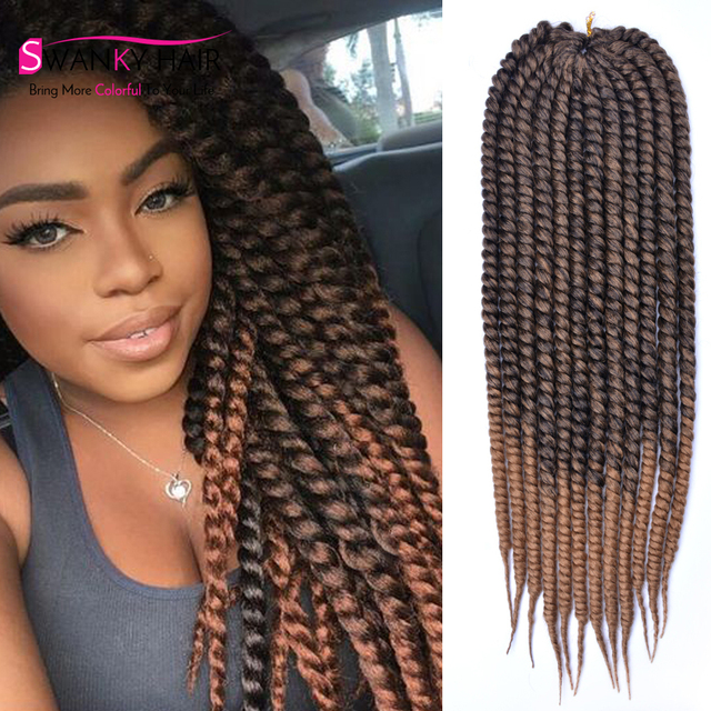 24inch Mambo Twist Crochet Braids Hair Extension 1B/30 ...