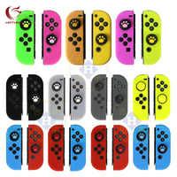 Funda protectora de silicona HOTHINK Soft CON tapa de joystick para Nintendo Switch JOY CON nintend switch CON tapa de joystick