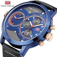 MINIFOCUS Quartz Watch Top Luxo Marca Esporte Relógios dos homens Do Cronógrafo Militar Big Dial Relógio de Pulso Dos Homens Relógio Masculino relógios de Pulso Relógios de quartzo     -