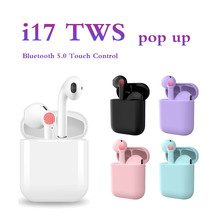 i17 TWS Wireless Earphone Bluetooth 5.0 Touch Control Automatic pop up sport Headset 3D Stereo with charging case pk i12 i16 i20