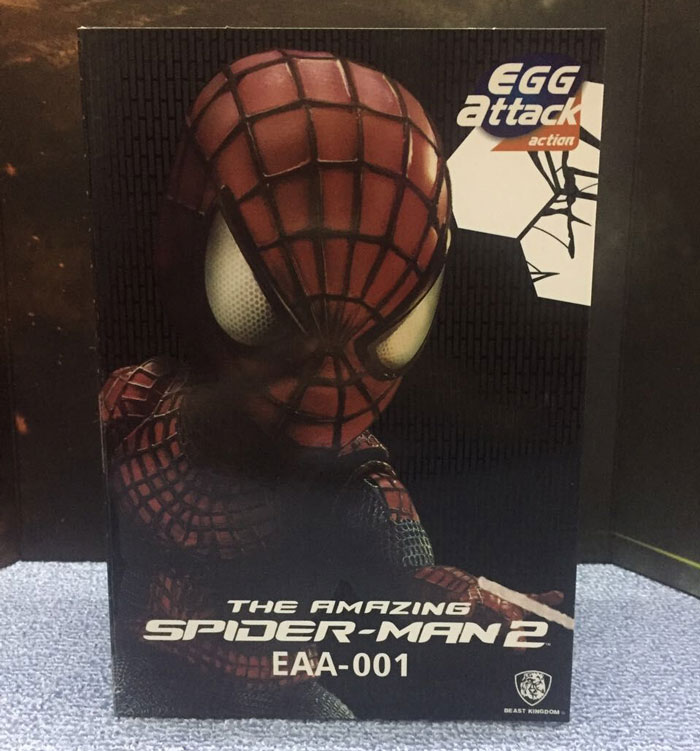 New The Amazing Spider-Man 2 Marvel Super Hero Spider Man Peter Parker Cute Egg Attack Action EAA-001 18CM Action Figure amazing spider man worldwide vol 6