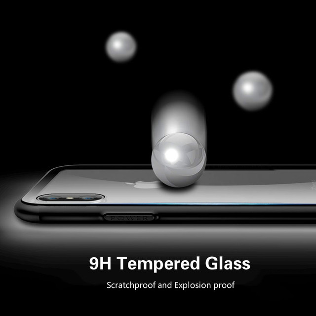 Tempered Glass Case For iPhone 7 8 6 6s Plus High Quality Clear Soft Silicone Glass Cover For iPhone 11 Pro X XR XS Max Cases 4