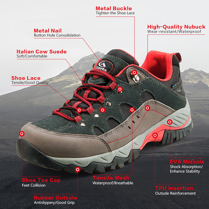 RU Local Delivery Clorts Suede Men Hiking Shoes Waterproof Trekking Shoes Breathable Rubber Wear-resistant Tourist Shoes HKL-815RU Local Delivery Clorts Suede Men Hiking Shoes Waterproof Trekking Shoes Breathable Rubber Wear-resistant Tourist Shoes HKL-815