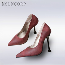 Plus Size 34-48 Fashion Women Solid Colors Slip On Femme Sexy Pumps Pointed Toe Ladies Shoes Dress Thin High Heel Wedding Party esveva blue sexy party summer women shoes thin high heel woman pumps pointed toe sequined cloth ladies wedding shoe size 34 43