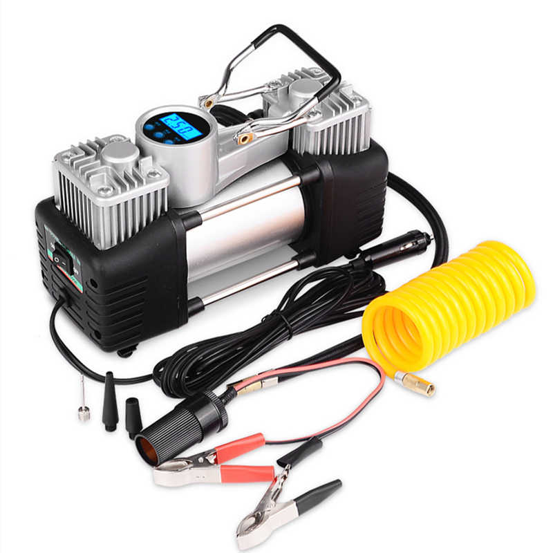 100PSI Mobil Mini Pompa Inflator Tire Air Compressor 12 V