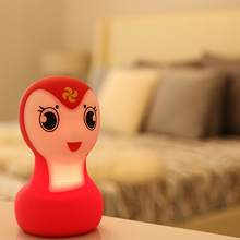 Cute Cartoon Snake Pat Light Soft Silicone  USB Charging Table Lamp Home Decor for Baby Kids Touch Control Night light