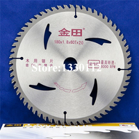 7 Inches 180 X 60T X 20mm Professional TCT Wood Cutting Circular Saw Blades Free Shipping