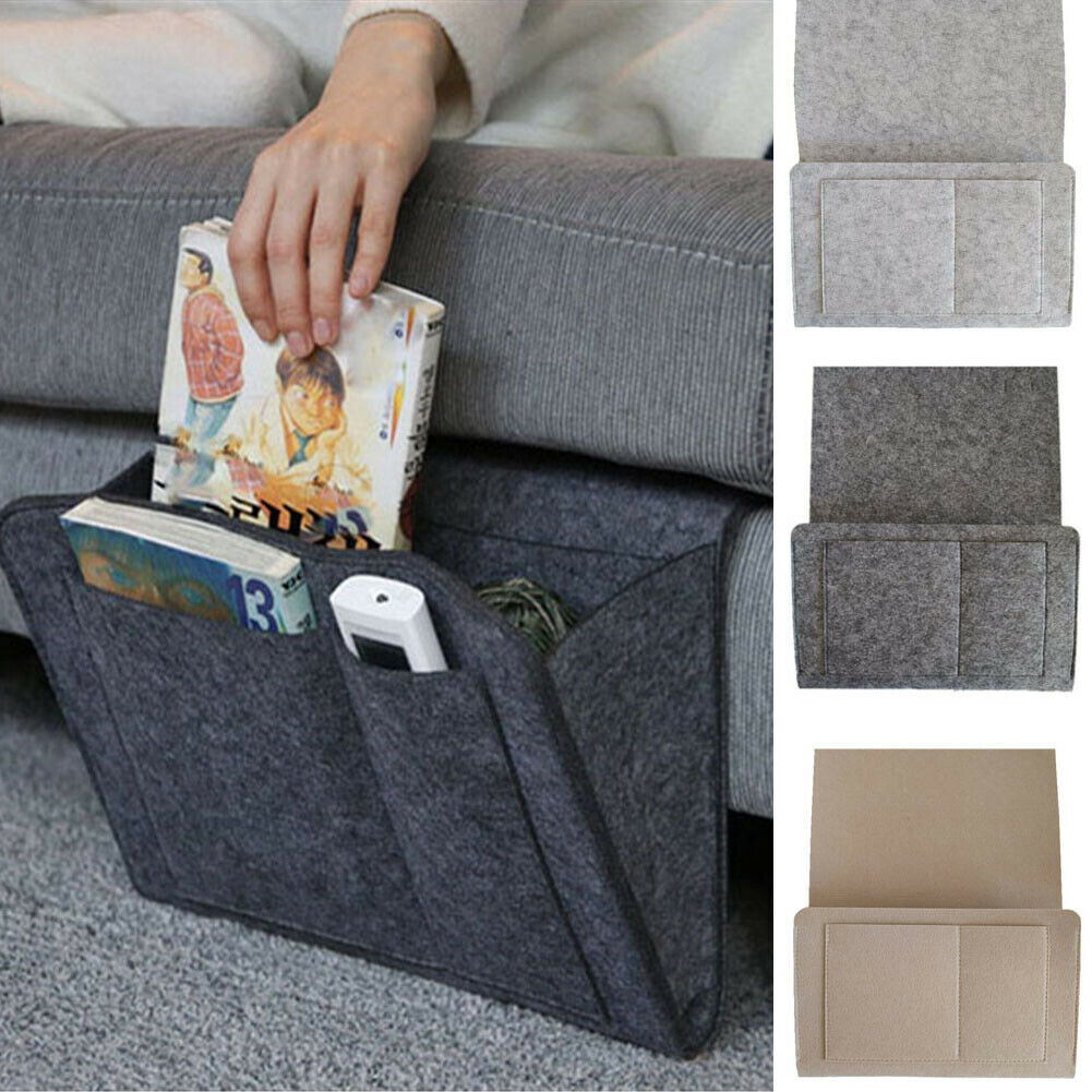 Groovy Us 1 53 45 Off Bedside Storage Caddy Hanging Bag Felt Sofa Organizer Pocket Book Holder Home In Travel Accessories From Luggage Bags On Home Interior And Landscaping Elinuenasavecom