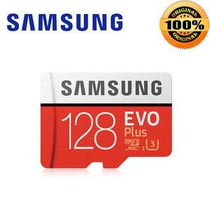 Samsung micro cartão sd 64gb 128gb, microsd 256 gb sdhc 32gb evo mais cartão de memória classe 10 mini cartão sd 16gb, sdxc 4k u3 red tf card