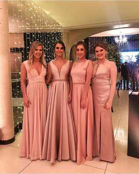 Womens Evening Dress Formal Elegant Plus Size Rose Gold Floor Length Custom Simple High Quality Cheap Prom Dresses Party Gowns