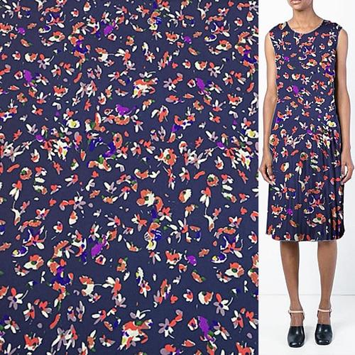 Abstract colorful floral printing 100% silk Jianhong crepe silk fabric,SJHC043