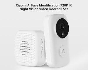 Image 2 - (Auf Lager) xiaomi Null AI Gesicht Identifikation 720 P IR Nachtsicht Video Türklingel Set Erkennung SMS Intercom Kostenloser Wolke Lagerung