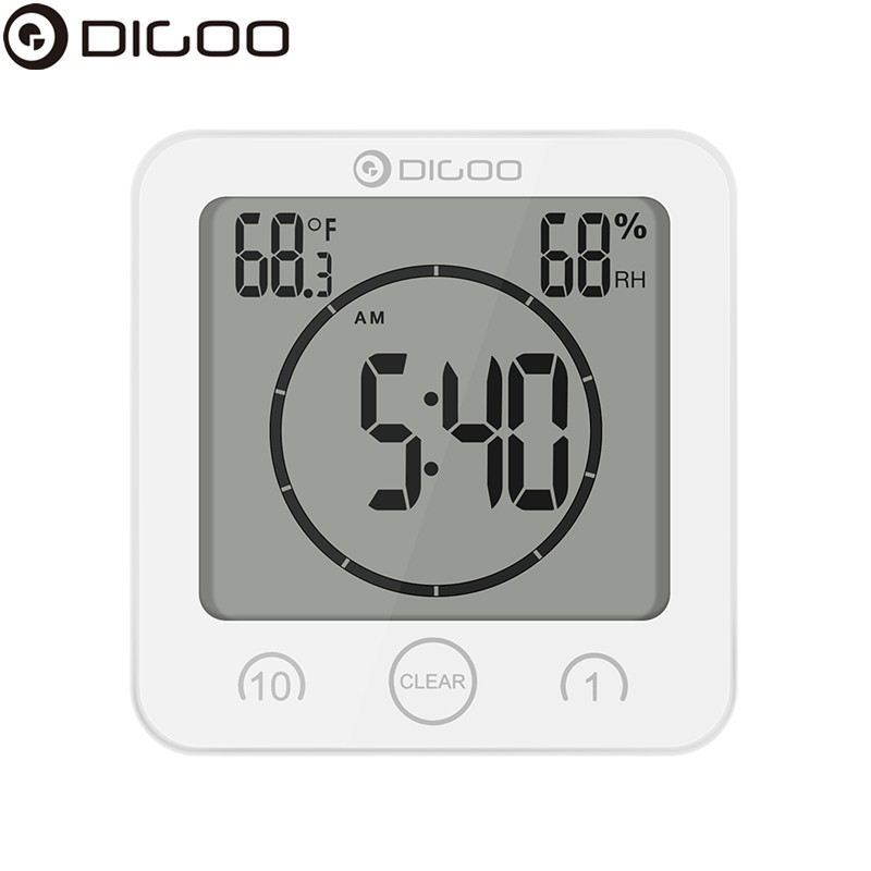 DIGOO DG BC10 Digital Weather Station Digital Thermometer Hygrometer Indoor Electronic Temperature Humidity Meter Clock digoo dg bb 13 mw 9 99ft 3 meter long micro usb durable charging power cable line for ip camera device