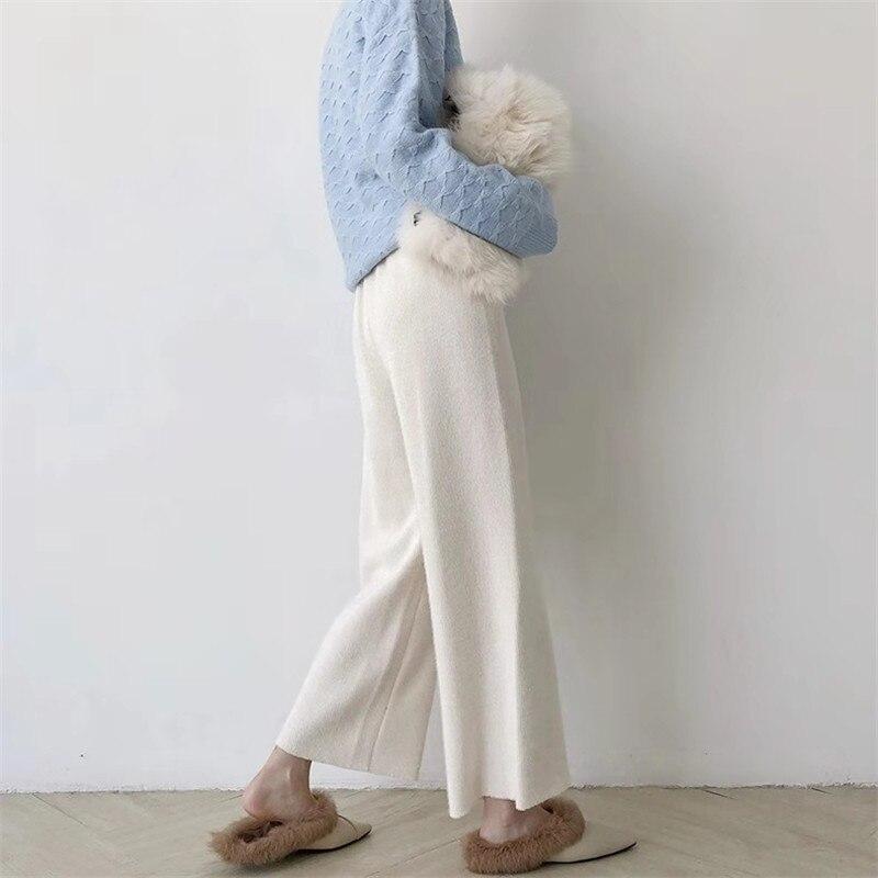 Velluto E Di Maglia Allentati Inverno Pantaloni Autunno Modelli black Spessore Donne Delle Larga Nuovi 2018 Beige Gamba white 8qwY8PO