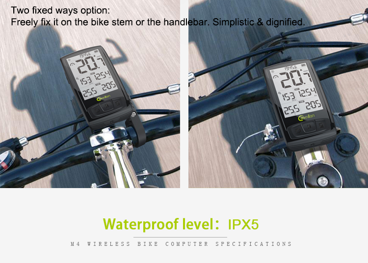 Bicycle Computer Wireless Waterproof Bike Computer Calorie Counter Odometer El Backlight Counter Display Speedometer Hot Sale Warm And Windproof Cycling Bicycle Computer