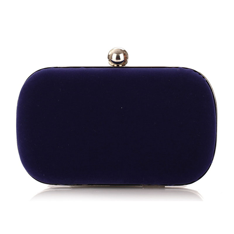 Women Hand Bag Small Box Shape Velvet Face Evening Clutch Bags Fashion Carry Small Items To Accept Female Make up Chain Bag