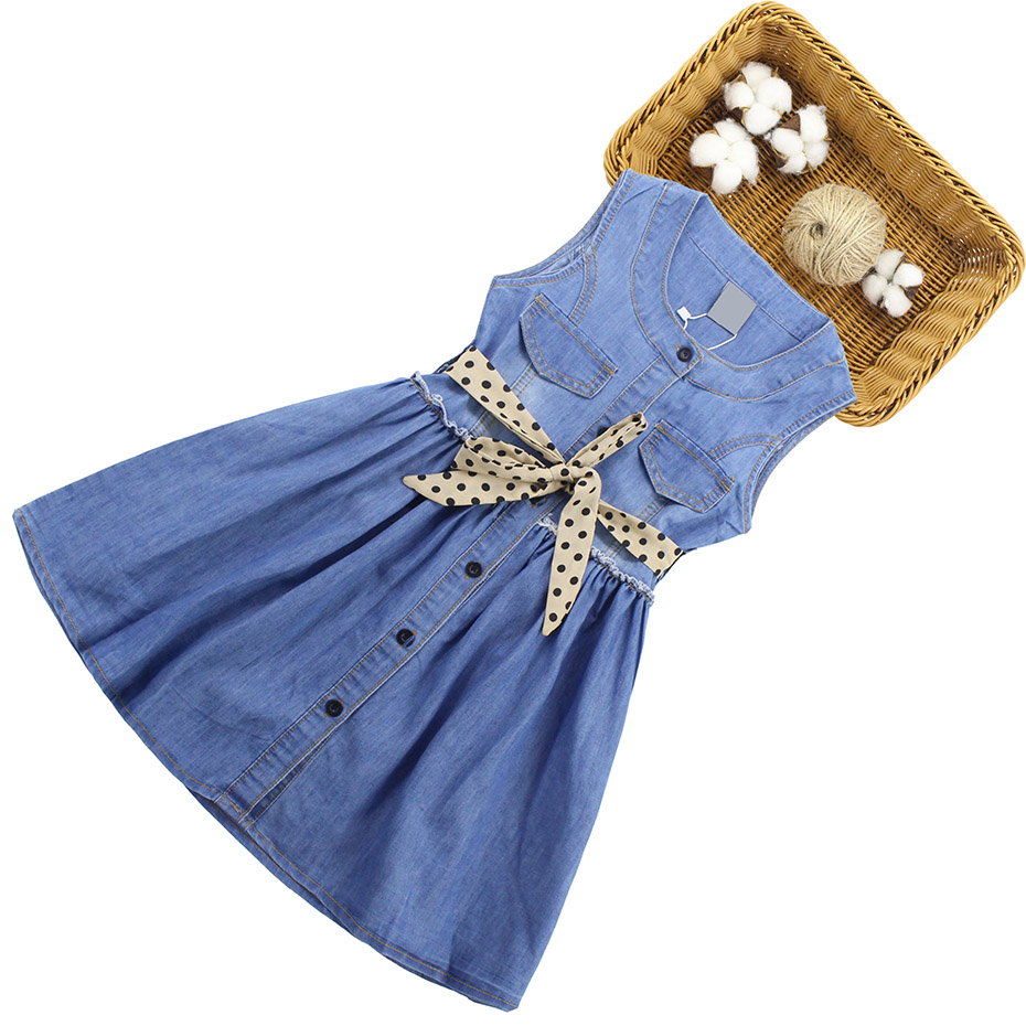 HTB1ZYDTQFzqK1RjSZFvq6AB7VXat - Summer Dress For Girls Sleeveless Denim Dress Girl Big Girls Party Dress Kids Summer Clothes For Kids Girl 6 8 10 12 13 14 Year