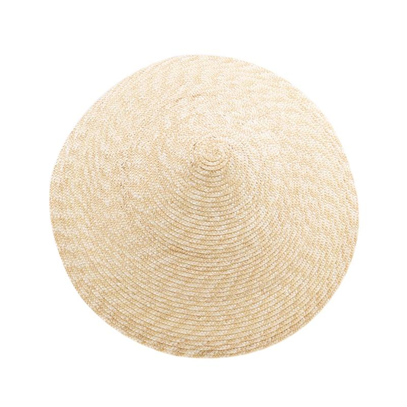 Large Brim Conical Natural Color Bamboo Rain Straw Sun Hat Female Women Funny Cylindrical Steeple-Crown Cap