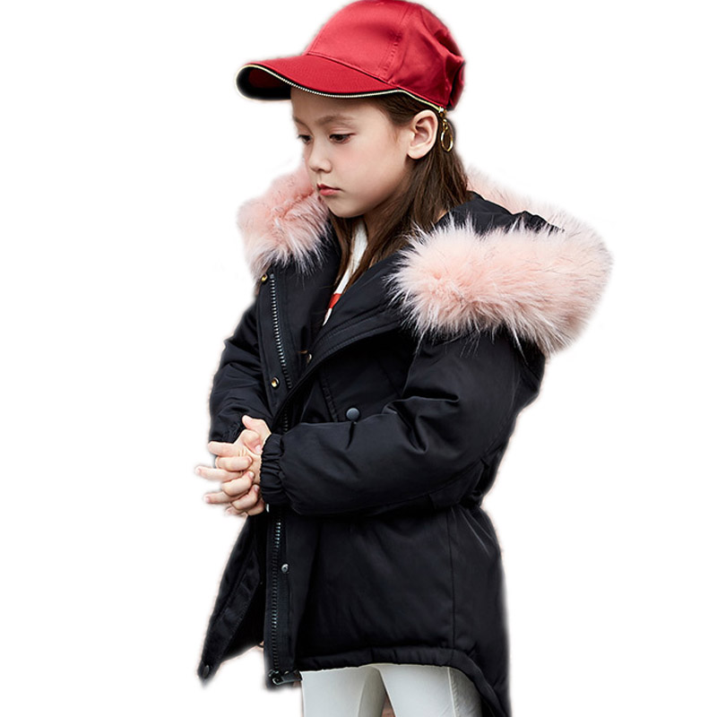 girls winter jackets and coats kids winter coat solid long section girls white duck down jackets for girls warm children outwear 2016 winter jacket girls down coat child down jackets girl duck down long design loose coats children outwear overcaot