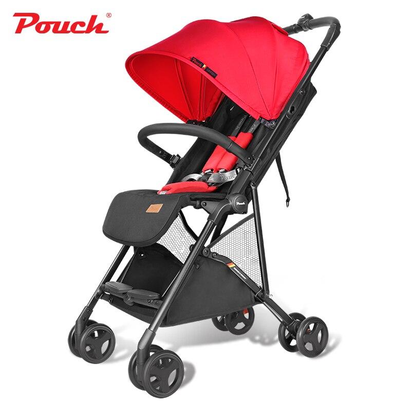 2019 nouveauté bébé poussette légère Q3 portable une seconde pli landau de voyage pour les nourrissons compact et léger