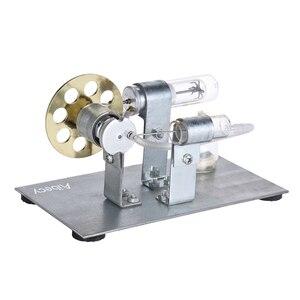 Image 2 - Aibecy Mini silnik stirlinga na gorące powietrze Model silnika strumień mocy eksperyment fizyczny zabawka edukacyjna