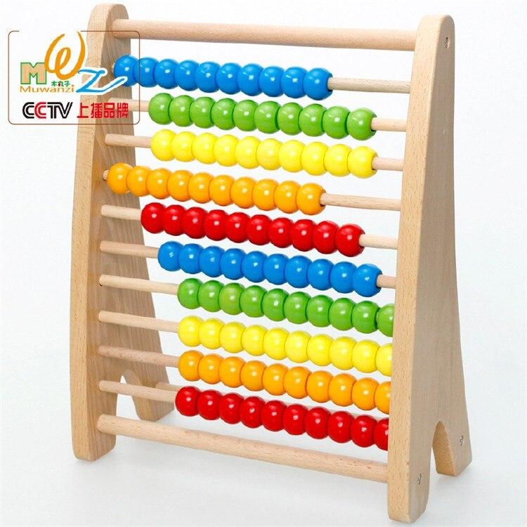 Blocs en bois enfants perle arc-en-ciel calcul arithmétique calcul arithmétique puzzle mathématiques jouet pour cadeau