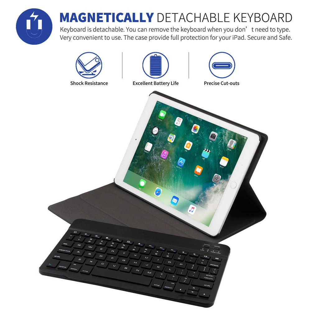 Untuk iPad Mini 5 7.9 Case Keyboard Ultra Slim Auto Tidur/Bangun Berdiri Smart Cover untuk iPad Mini 4/5 7.9 Case Bluetooth Keyboard