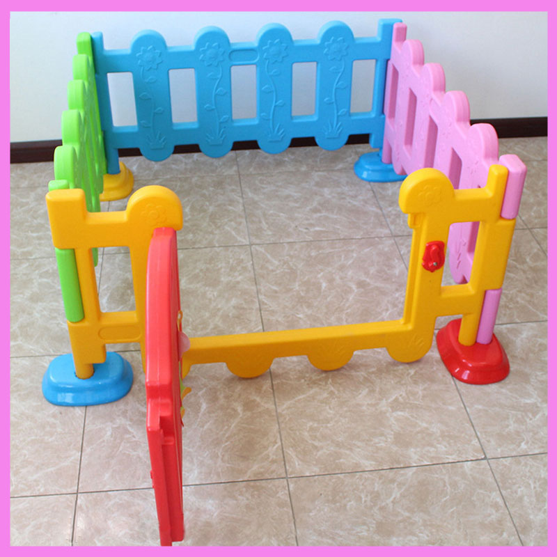 Folding Children Plastic Fence Baby Game Guardrail Playing Crawling Security Fence Toddler Baby Square Playpens with Door