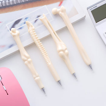5pcs Novelty Bone Pen Ballpoint 0.7mm Boned Roller Ball Blue Color Ink Pens Kids Gift Stationery Office School Supplies A6082 цена 2017