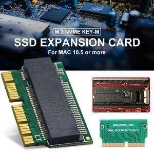 Image 5 - NVMe PCIe M.2 M ключ SSD адаптер карта расширения поддержка PCI Express 3,0 X4 для Macbook Air 2013 2014 2015