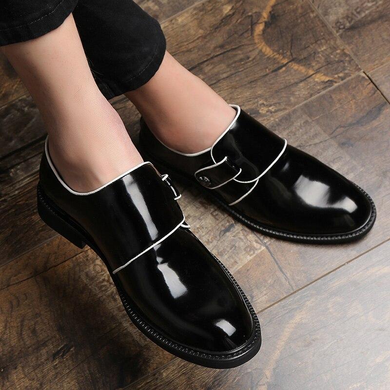 6885fa6631 Primavera Outono Preto De Borracha Mens Para Fundo Homem Homens Black  Escritório Clássico Vestido Sapatos Negócios Masculinos Confortável ...