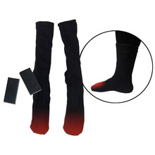1Pair 3V Thermal Cotton Electric Hot Socks Double Warm Socks Battery Case Battery Operated Winter Foot  Men Women Heated Socks