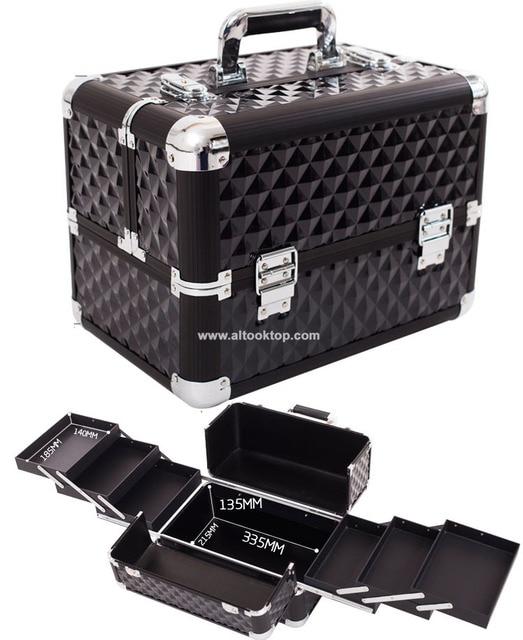57b099055 Maleta para cosméticos profesional maquillaje caja de transporte tatuaje  caja dura portátil organizador de maquillaje bolsa