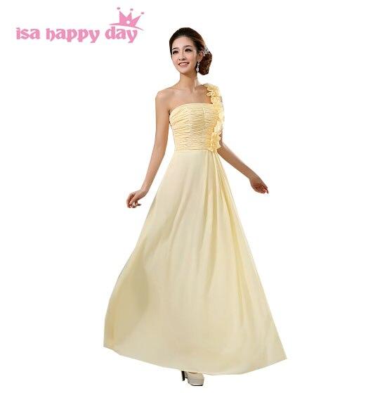 da758f1718bd Vestidos de chiffon convenzionale sexy una spalla giallo rosso abito da  sera abiti lunghi abiti sexy di nuovo modo del vestito 2019 H007 in  Vestidos de ...