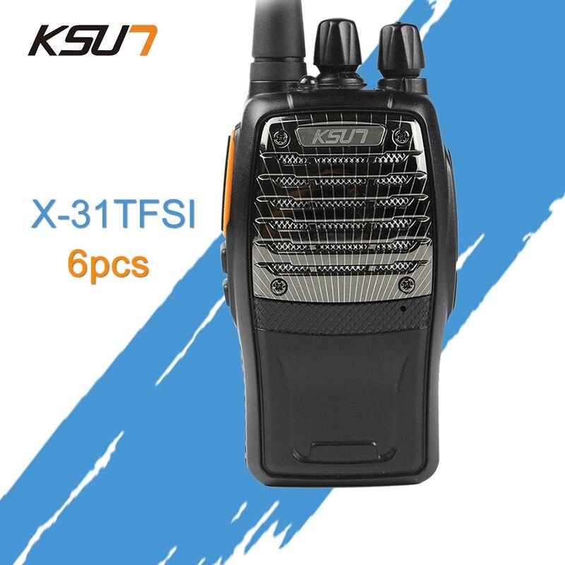 6 PCS KSUN X-31TFSI Walkie Talkie VOX funzione 5 W Palmare Pofung UHF 400-470 MHz 16CH A Due Vie portatile CB Radio6 PCS KSUN X-31TFSI Walkie Talkie VOX funzione 5 W Palmare Pofung UHF 400-470 MHz 16CH A Due Vie portatile CB Radio