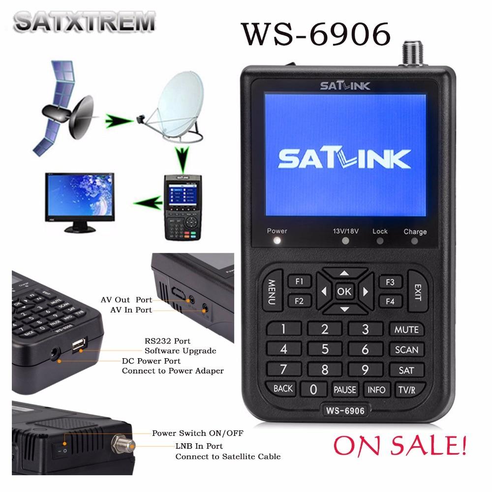 Satlink WS-6906 Satellite Signal Finder WS6906 With 3.5 LCD 3000mAh Battery Support DVB-S FTA digital Satellite Finder satlink ws 6908 3 5 lcd dvb s fta data digital satellite signal finder meter