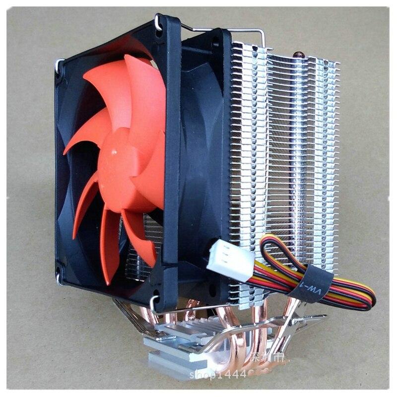3 Heatpipes radiador enfriador de CPU Intel LGA775/1155/1156 por 754 AMD/FM2/AM3/AM2 + CPU radiador ventilador de CPU hielo mini final