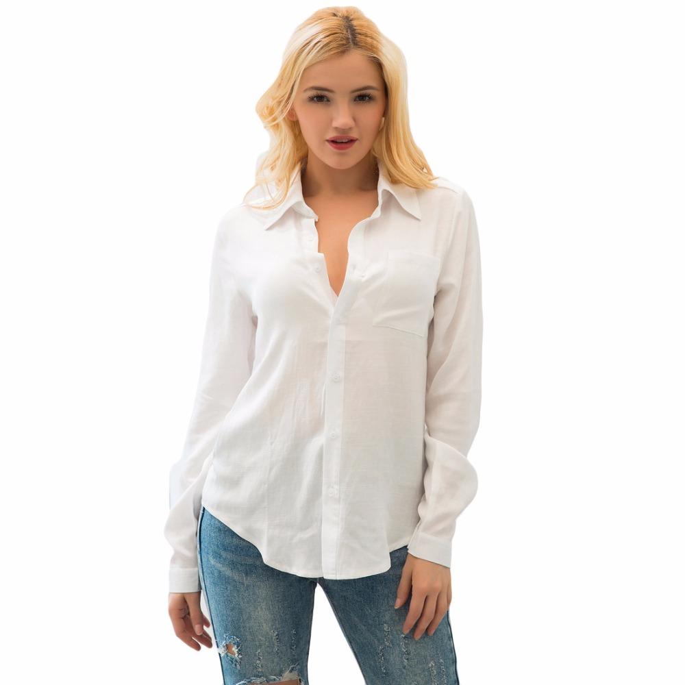 HTB1ZYEnSpXXXXbJXXXXq6xXFXXXt - 2017 Autumn Solid Long Sleeve Pocket Shirt Women Casual