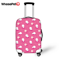 WHOSEPET Travel Luggage Protective Cover Cartoon Animal Print Waterproof Suitcase Cover Dust proof Kawaii Pattern Suitcase Cover