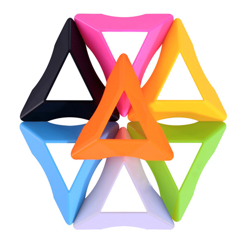 10 PCS Magic Cube Holder Stand Random Color Plastic Cubes Base Frame Mount Mini Cube Support Bracket Kids Early Learning Toys