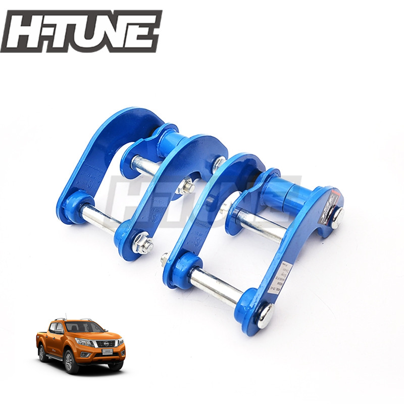 H TUNE 4X4 Rear Suspension Leaf Spring Double Shackle Kit For D23 NP300 Navara 4WD 15