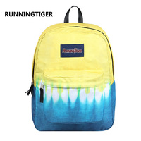 Running Tiger Contrast Color Women Backpack Cute Kawaii Yellow School Bag for Teenager Girls Luxury Travel Laotop Backpacks