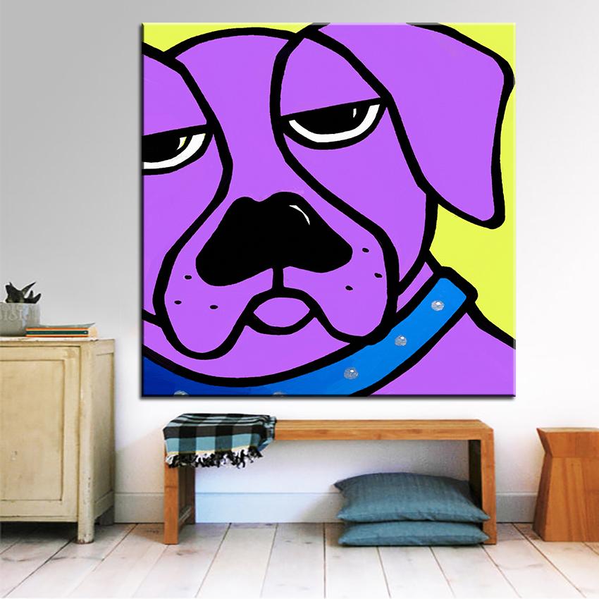 Grosse Grsse Druck Lgemlde Wandmalerei Bubba Abstrakt Dog POP Art Wall Bild Fr Wohnzimmer